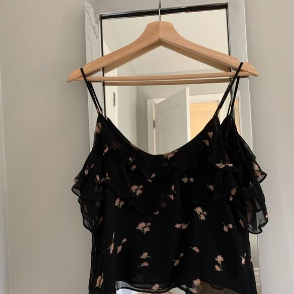 Zara Tops - Zara cold shoulder floral top